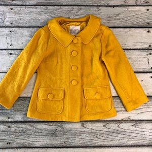 BB Dakota mustard yellow wool blazer jacket 6